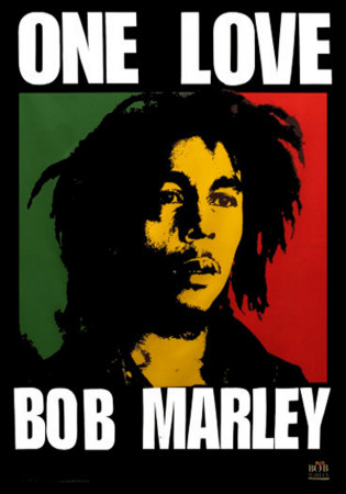 Bob Marley - One Love Fabric Poster