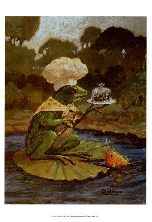 Cooking Frog Art by Dot Bunn