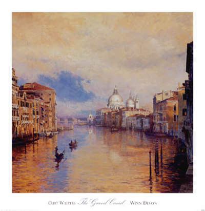 The Grand Canal Print by Curt Walters