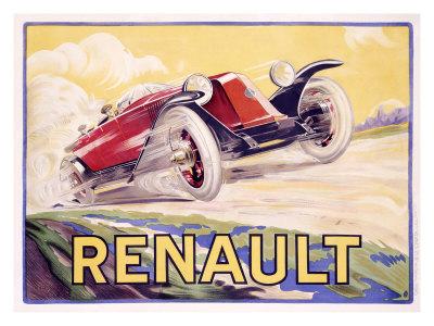 Renault Giclee Print by  de Bas