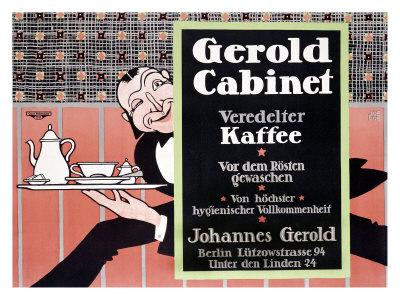 Gerold Cabinet Kaffee Giclee Print by J. Loe
