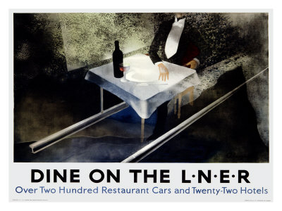 Dine on the Liner Giclee Print by Alexander Alexeieff