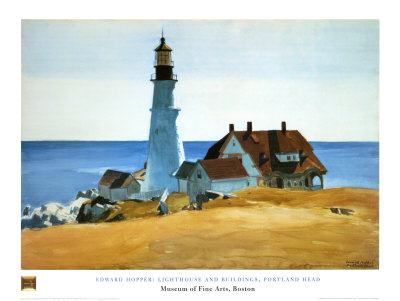 Lighthouse, Porthead Art Print