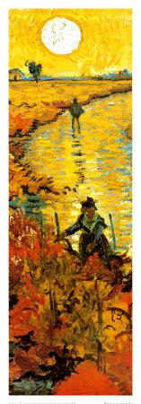The Red Vineyard at Arles, c.1888 (detail) Prints by Vincent van Gogh