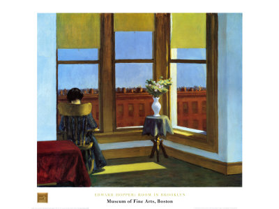 Room In Brooklyn Posters by Edward Hopper