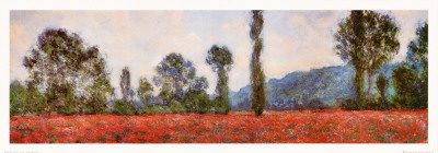 Field of Poppies (detail) Posters by Claude Monet
