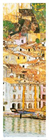 Malcesine sul Garda (detail) Prints by Gustav Klimt