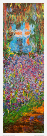 The Artist's Garden at Giverny (detail) Print by Claude Monet