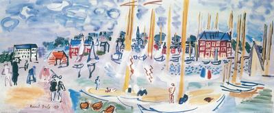 Dimanche a Deauvilie Konst av Raoul Dufy