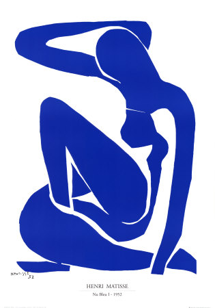Nu Bleu I, c.1952 Prints by Henri Matisse