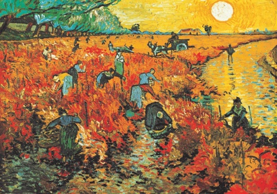 The Red Vineyard at Arles, c.1888 Art Print