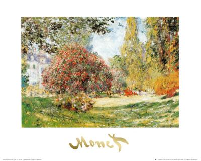 Parque Monceau Pósters por Claude Monet