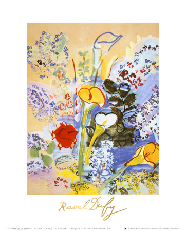 Bouquet d'Arums Posters by Raoul Dufy