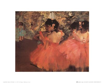 Ballerina in Red Prints by Edgar Degas