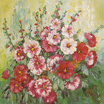 Hollyhock in Midsummer Kunstdruck