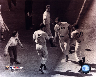 Ted Williams - Homeplate (sepia) Photo