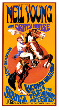 Neil Young and Crazy Horse in Concert Art Print