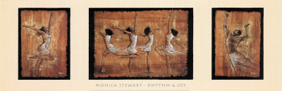 Rhythm and Joy Prints by Monica Stewart