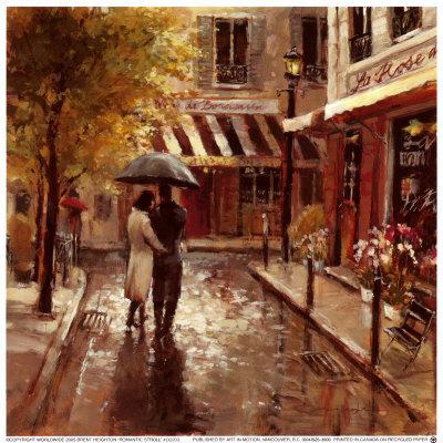 Romantic Stroll Kunsttryk