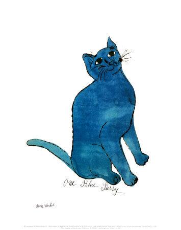 One Blue Pussy, c.1954 Kunsttryk