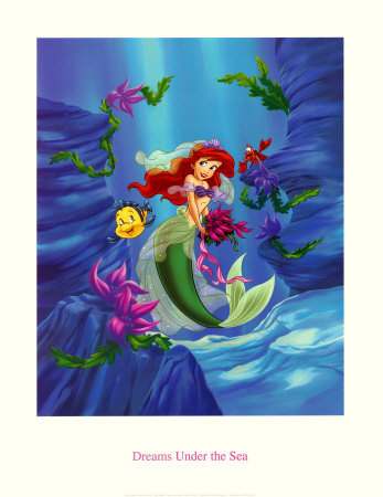 Ariel, Dreams Under the Sea Art Print