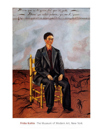 Self-Portrait with Cropped Hair, 1940 Posters by Frida Kahlo