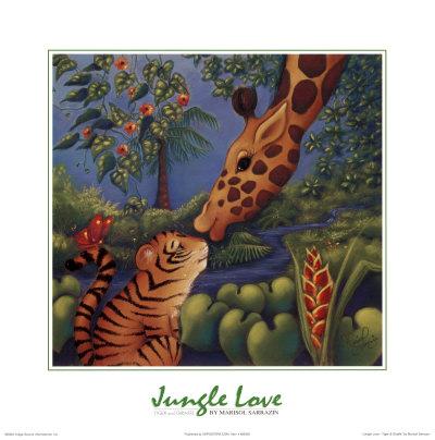Jungle Love II Prints by Marisol Sarrazin