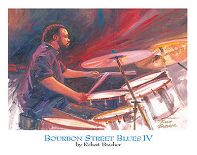 Bourbon Street Blues IV Posters by Robert Brasher