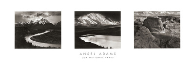 Ansel Adams - Our National Parks (Triptych)