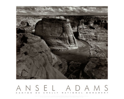 Canyon de Chelly photo noir et blanc par Ansel Adams