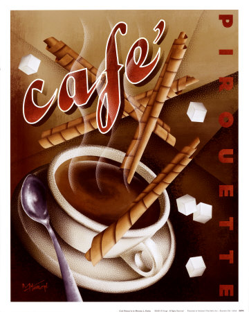 Cafe Pirouette Art Print