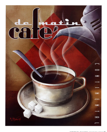 cafe de matin poster by michael l kungl at. Black Bedroom Furniture Sets. Home Design Ideas