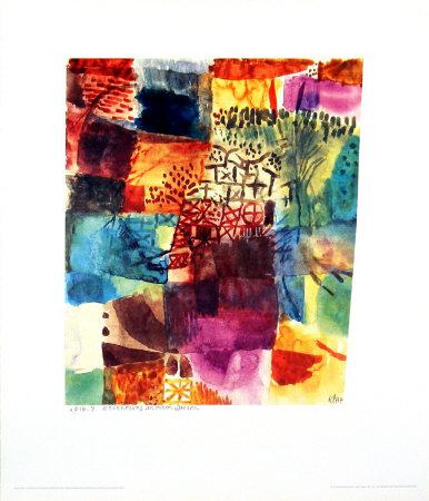 Erinnerung an einen Gart, 1914 Art by Paul Klee