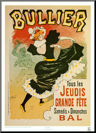 Bullier Mounted Print by Georges Meunier