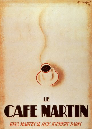 Le Cafe Martin Print by Charles Loupot