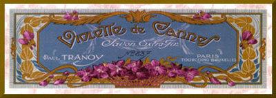 Violette de Cannes - Gold Trim Mounted Print by Susan W. Berman