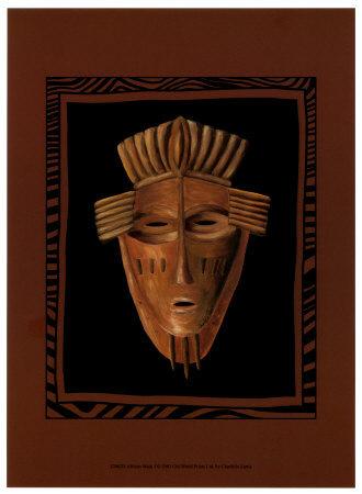 african masks art. African Mask I Art Print