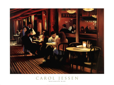 Cafe I Prints by Carol Jessen