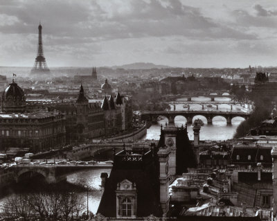 The River Seine and the City of Paris, c.1991 Art Print