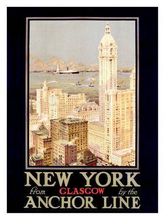 New York, Anchor Line Giclee Print