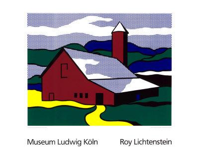 Red Barn II, 1969 Serigraph by Roy Lichtenstein