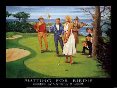 Putting For Birdie Prints by Clement Micarelli