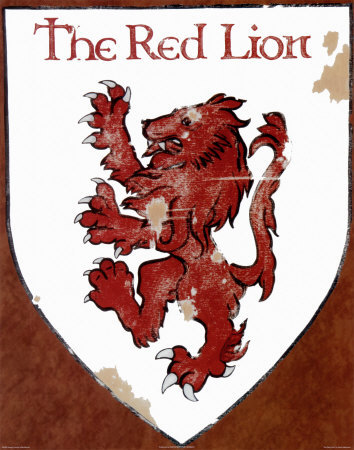 The Red Lion Posters by David Marrocco
