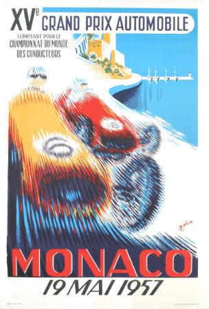monaco grand prix posters. Monaco Grand Prix, 1957 Art