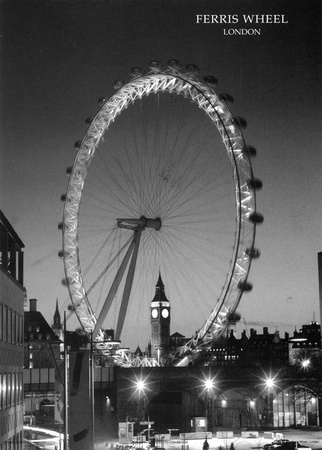 Ferris Wheel, London Art Print