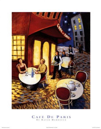 Cafe De Paris Posters by David Marrocco