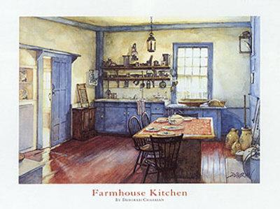 Cocina de granja Lámina