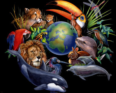 Living Earth Print by Peter Kull