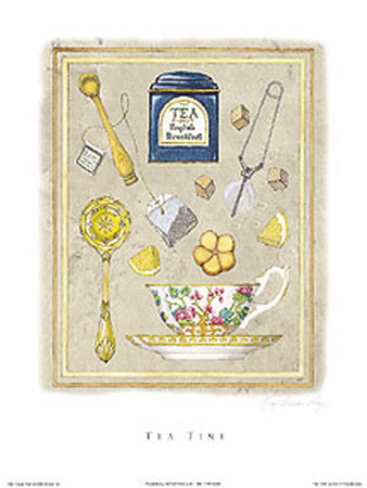 Tea Time Print by Karyn Frances Gray