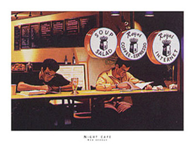 Night Cafe Prints by Rob Brooks